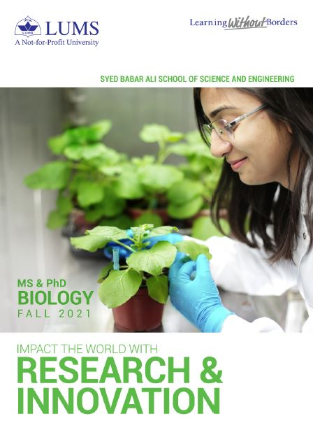 MS & PhD Biology Fall 2021