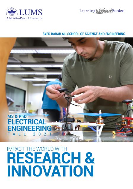 MS & PhD Electrical Engineering Fall 2021