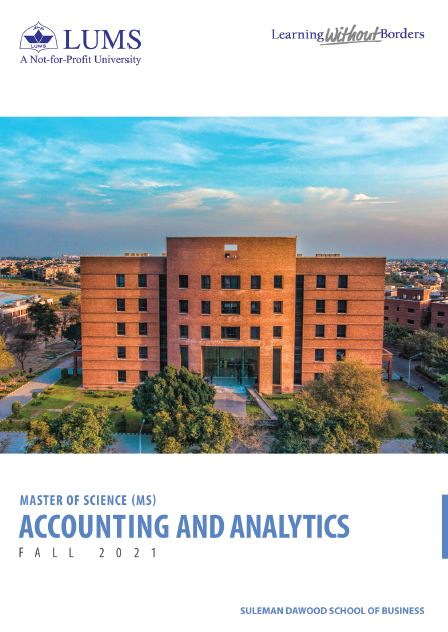 MS Accounting and Analytics Fall 2021