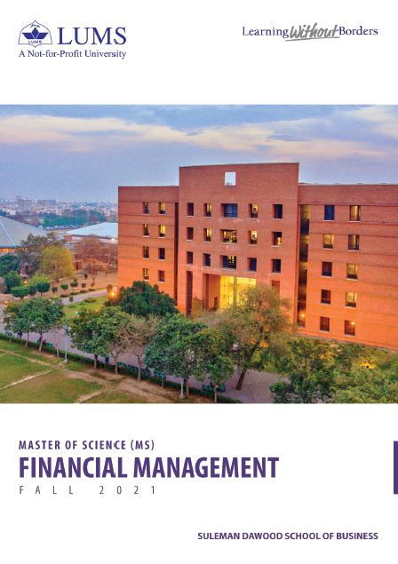 MS Financial Management Fall 2021
