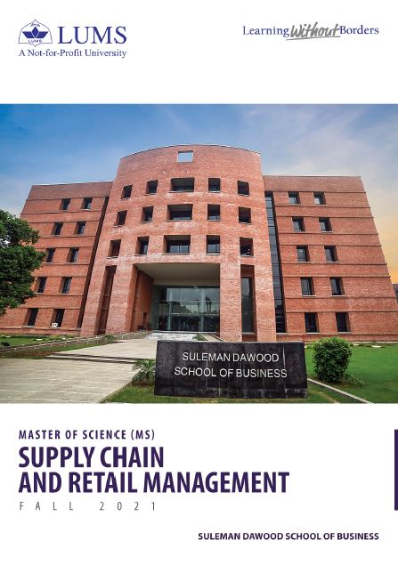 MS Supply Chain and Retail Management Fall 2021