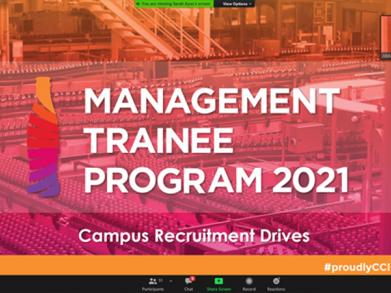 Management Trainee Program 2021 written in white over a pink background
