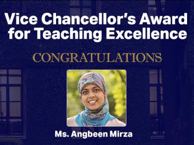 In Conversation with Angbeen Atif Mirza, Awardee Inaugural Vice Chancellor's Award for Teaching Excellence