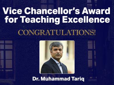 In Conversation with Dr. Muhammad Tariq, Recipient of Vice Chancellor's Award for Teaching Excellence